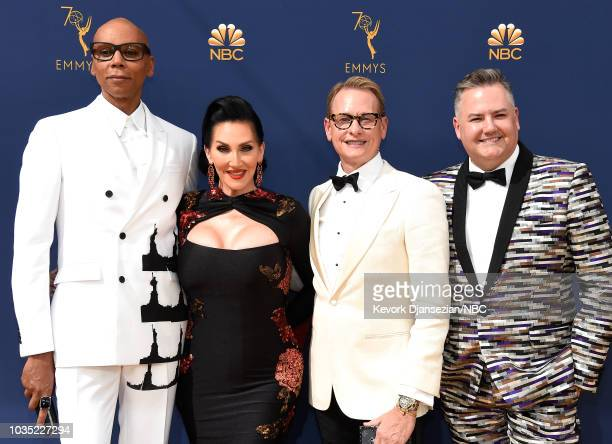 70th ANNUAL PRIMETIME EMMY AWARDS Pictured TV personalities RuPaul Michelle Visage Carson Kressley and Ross Mathews arrive to the 70th Annual...