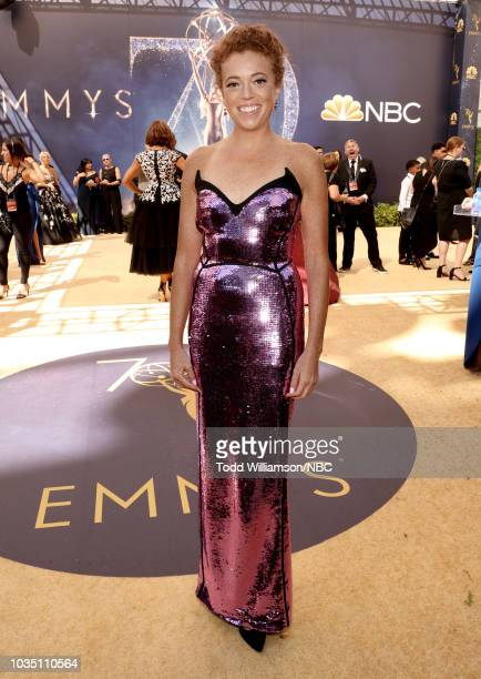 70th ANNUAL PRIMETIME EMMY AWARDS Pictured TV personality Michelle Wolf arrives to the 70th Annual Primetime Emmy Awards held at the Microsoft...