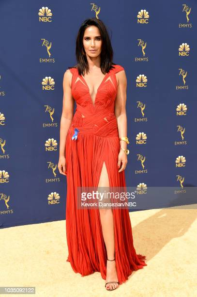 70th ANNUAL PRIMETIME EMMY AWARDS Pictured TV personality Padma Lakshmi arrives to the 70th Annual Primetime Emmy Awards held at the Microsoft...