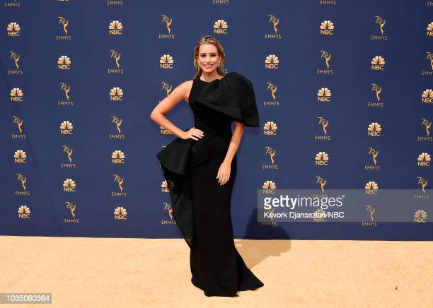70th ANNUAL PRIMETIME EMMY AWARDS Pictured Poppy Delevingne arrives to the 70th Annual Primetime Emmy Awards held at the Microsoft Theater on...