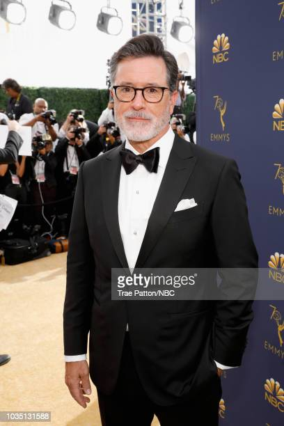 70th ANNUAL PRIMETIME EMMY AWARDS Pictured TV personality Stephen Colbert arrives to the 70th Annual Primetime Emmy Awards held at the Microsoft...