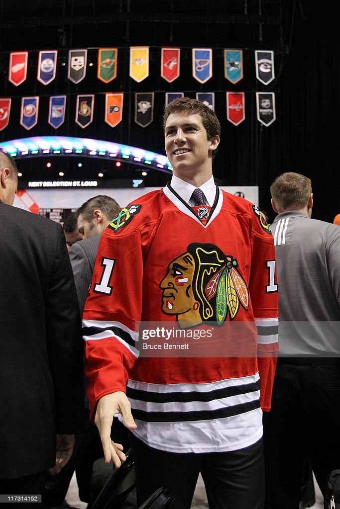 70th overall pick Michael Paliotta by the Chicago Blackhawks smiles during day two of the 2011 NHL Entry Draft at Xcel Energy Center on June 25, 2011 in St Paul, Minnesota.