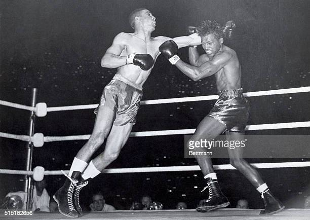 7/11/1951London England Randolph Turpin of Britain last night beat Sugar Ray Robinson the holder of the world middleweight title at Earl's Court...