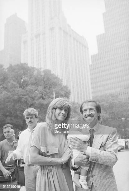 7/12/1988New York NYSonny and Mary Bono stand outside City Hall in New York with their daughter Chesare after meeting with Mayor Koch