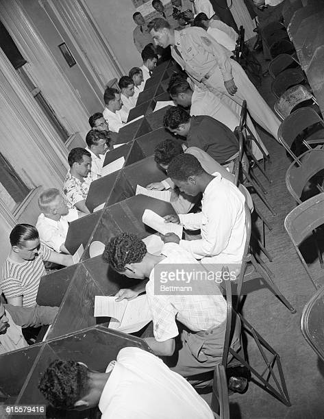 7/13/1950New York NY Some of the young men between the ages of 18 and 26 who weree called for preinduction physicals and mental exames