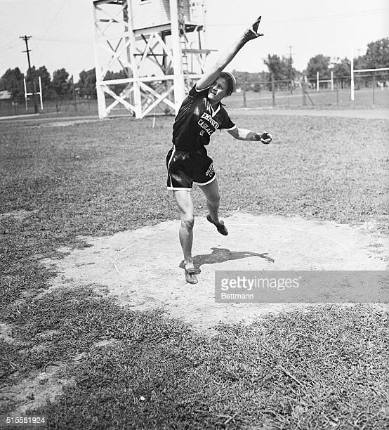 7/14/32Evanston Illinois Mildred Didrikson of Dallas Texas 18yearold star who won the Texas AAU meet singlehanded winning eight out of ten events...
