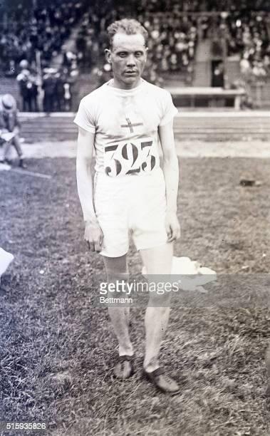 7/16/1924Paris France Paavo Nurmi of Finland winner of the 5000meter poses at Colombes Stadium