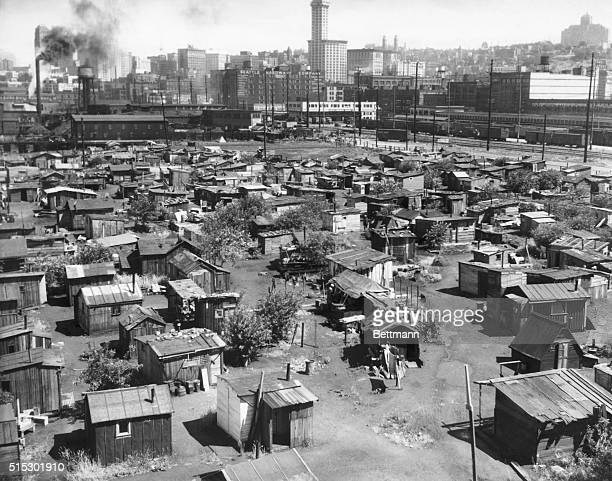 Hooverville, a section of Seattle. Photograph.