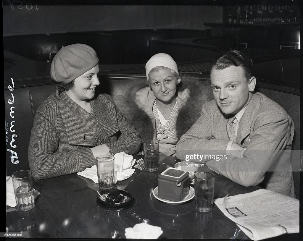 James Cagney And Family At Supper : News Photo