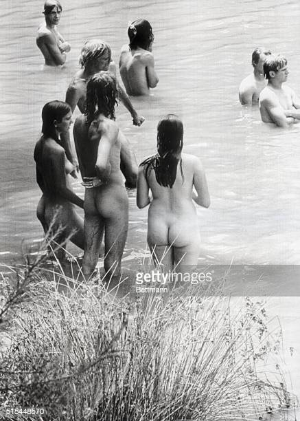 7/18/1970Love Valley NC Back to nature seems to be the mode as rock festival fans bathe nude in this mountain lake According to Love Valley Mayor...