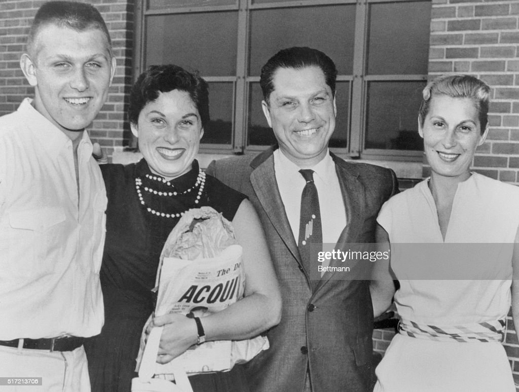 Jimmy Hoffa Shown With His Family : News Photo