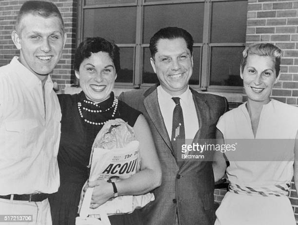7/19/1957Detroit MI James R Hoffa Detroit Teamsters' leader shown with his family after arriving back in Detroit 7/19 Hoffa was acquitted in...