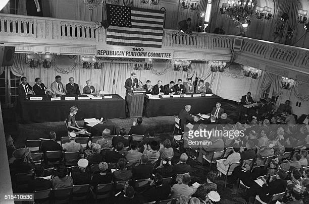 7/19/1960Chicago IL The 103 member GOP platform committee holds its opening session in the Crystal Ballroom of the SheratonBlackstone Hotel Charles H...
