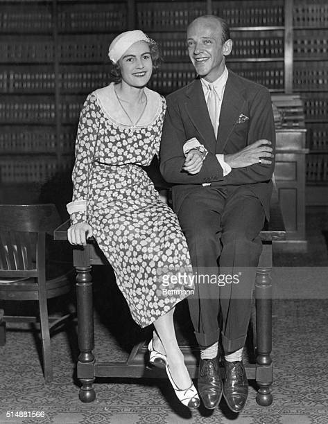 7/1933Fred Astaire dancer and musical comedy star and Phyllis Livingston Potter pictured following their wedding July 1933 Photograph
