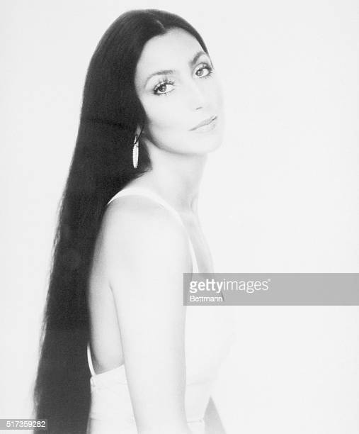 7/1975Glamorous portrait of singer Cher Bono She is shown waistup with long hair