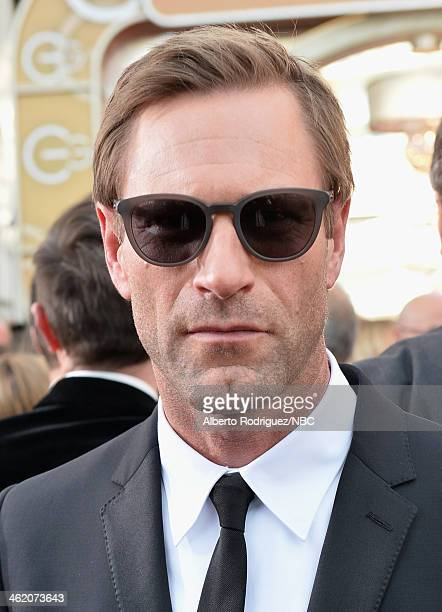 71st ANNUAL GOLDEN GLOBE AWARDS Pictured Actor Aaron Eckhart arrives to the 71st Annual Golden Globe Awards held at the Beverly Hilton Hotel on...