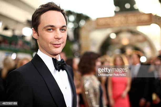 71st ANNUAL GOLDEN GLOBE AWARDS -- Pictured: Actor Jim Parsons arrives to the 71st Annual Golden Globe Awards held at the Beverly Hilton Hotel on...