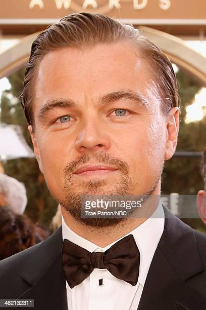 71st ANNUAL GOLDEN GLOBE AWARDS Pictured Actor Leonardo DiCaprio arrives to the 71st Annual Golden Globe Awards held at the Beverly Hilton Hotel on...