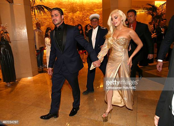 71st ANNUAL GOLDEN GLOBE AWARDS Pictured Actor Taylor Kinney and singer Lady Gaga attend Universal NBC Focus Features E Sponsored by Chrysler Viewing...