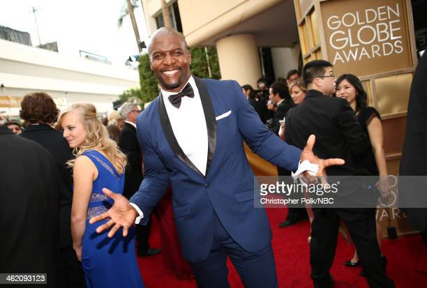 71st ANNUAL GOLDEN GLOBE AWARDS Pictured Actor Terry Crews arrives to the 71st Annual Golden Globe Awards held at the Beverly Hilton Hotel on January...