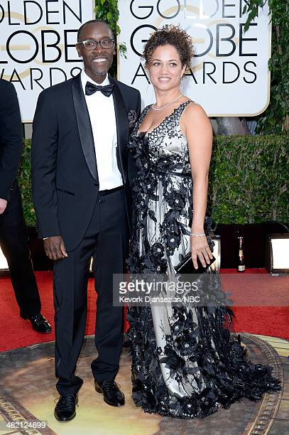 71st ANNUAL GOLDEN GLOBE AWARDS Pictured Actors Don Cheadle and Bridgid Coulter arrives to the 71st Annual Golden Globe Awards held at the Beverly...