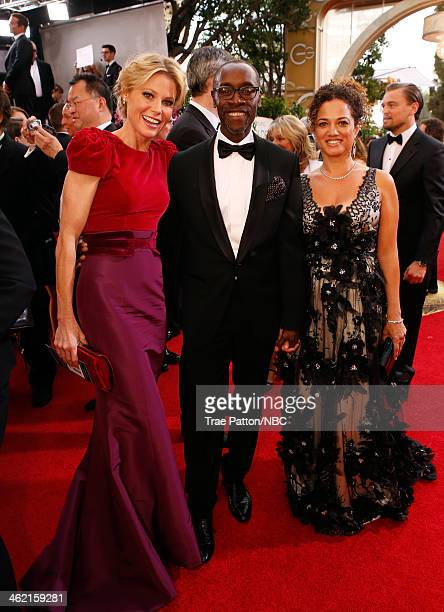 71st ANNUAL GOLDEN GLOBE AWARDS Pictured Actors Julie Bowen Don Cheadle and Bridgid Coulter arrive to the 71st Annual Golden Globe Awards held at the...