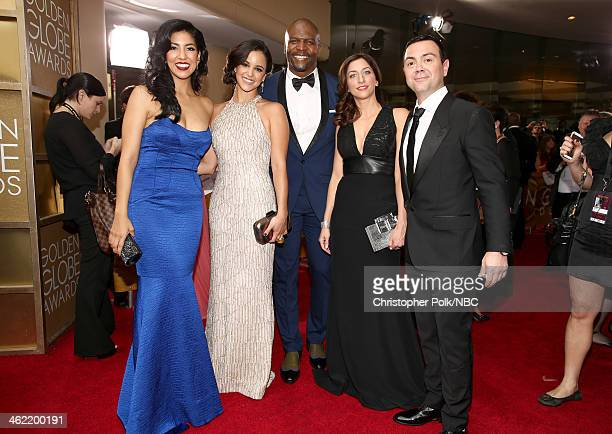 71st ANNUAL GOLDEN GLOBE AWARDS Pictured Actors Stephanie Beatriz Melissa Fumero Terry Crews Chelsea Peretti and Joe Lo Truglio of 'Brooklyn...