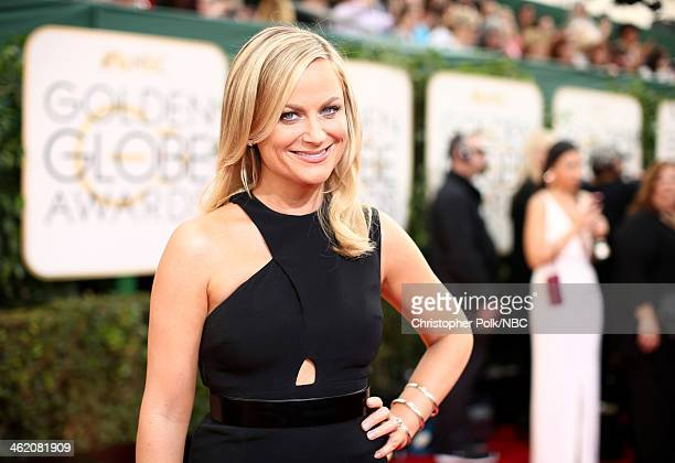 71st ANNUAL GOLDEN GLOBE AWARDS Pictured Actress Amy Poehler arrives to the 71st Annual Golden Globe Awards held at the Beverly Hilton Hotel on...