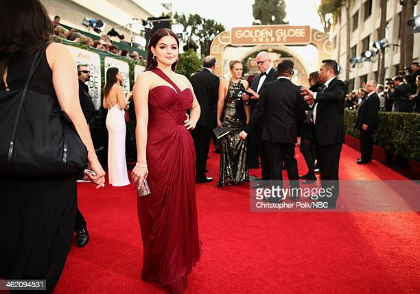 71st ANNUAL GOLDEN GLOBE AWARDS -- Pictured: Actress Ariel Winter arrives to the 71st Annual Golden Globe Awards held at the Beverly Hilton Hotel on...