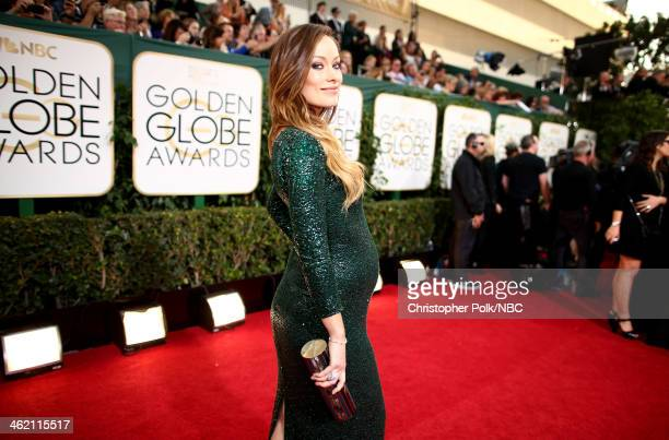 71st ANNUAL GOLDEN GLOBE AWARDS Pictured Actress Olivia Wilde arrives to the 71st Annual Golden Globe Awards held at the Beverly Hilton Hotel on...