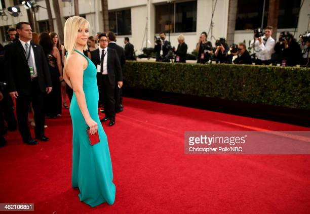 71st ANNUAL GOLDEN GLOBE AWARDS Pictured Actress Reese Witherspoon arrives to the 71st Annual Golden Globe Awards held at the Beverly Hilton Hotel on...