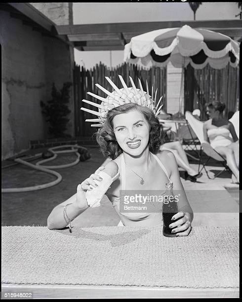 7/21/1953Long Beach CAMs France Christiane Martel daughter of a Paris Theatre operator entered the Miss Universe contest where she competed with...