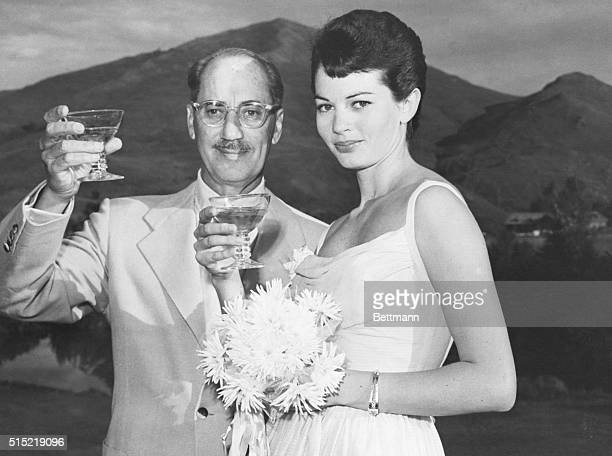 Sun Valley, Idaho- Television and film comedian Groucho Marx and his bride, Eden Hartford a native of Salt Lake City and now of Beverly Hills, CA,...