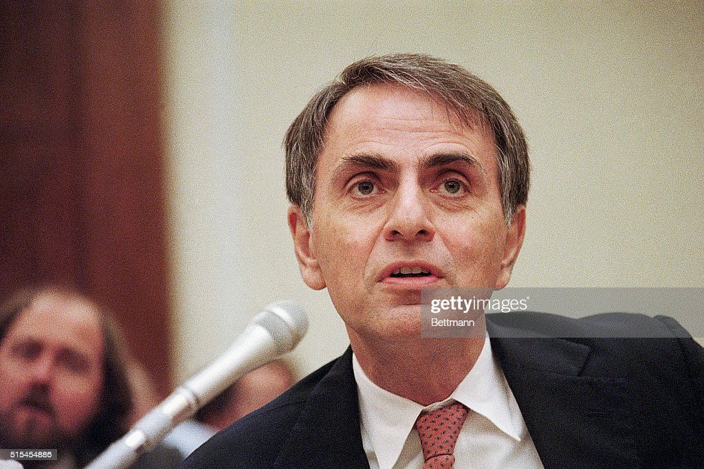 Carl Sagan Testifies At House Hearing : News Photo