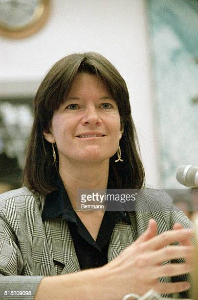 7/22/1987Washington DC Astronaut Sally Ride outlineing long range goals for NASA testifies before House subcommittee PH L Mark
