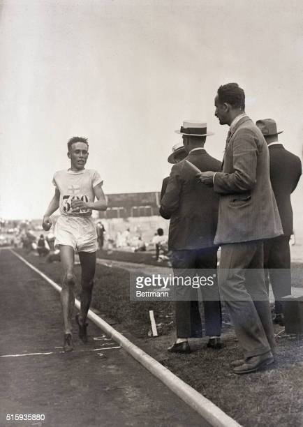 7/23/1924Paris France Willie Ritola of Finland finishes second in the 10000 meter Olympic crosscountry