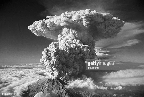 7/23/1980Spirit Lake WA Looking more like a smoke cloud from an Abomb blast than steam and ash from a volcano eruption Mt St Helens sent this plume...