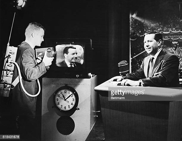7/25/1956New YorkNY TV viewers saw the new Intec portable TV camera in action tonight on the Douglas Edwards with the News TV programThe cameraa...