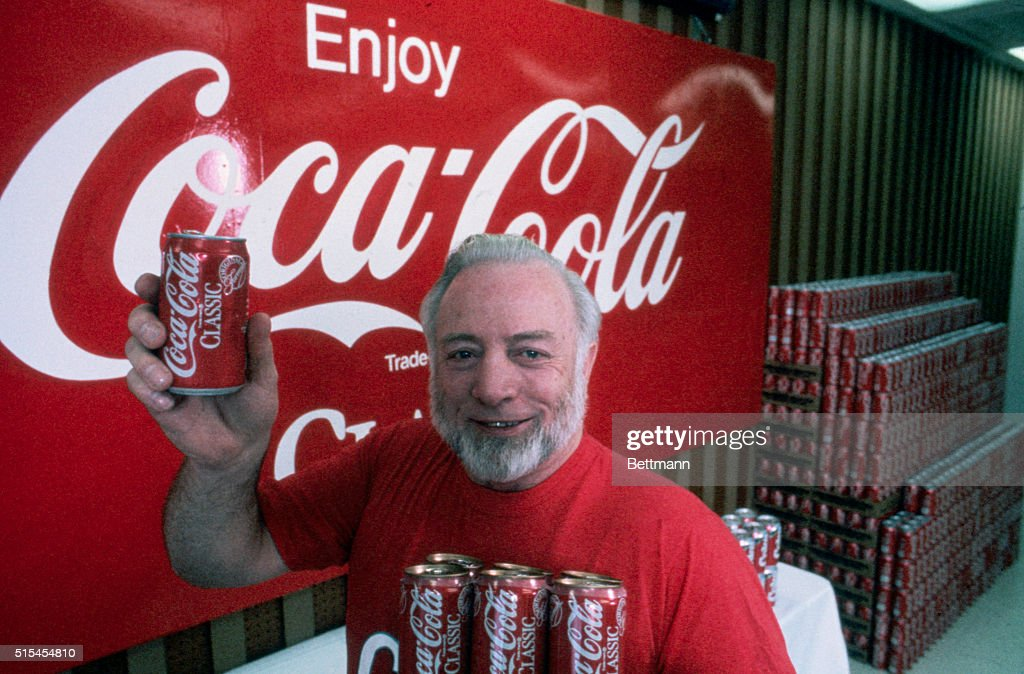 Gay Mullins Holding Can of Classic Coke : News Photo