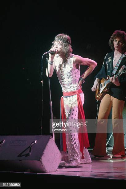 7/26/1972New York NY Mick Jagger is shown singing on stage at a concert at Madison Square Garden This was the final performance of the group's 30city...