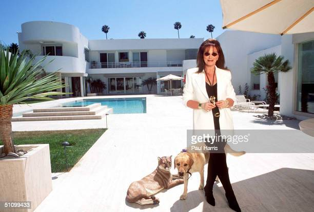 Beverly HillsCaliforniaJackie Collins At Jackies New Home In Beverlyhills She Designed Herself