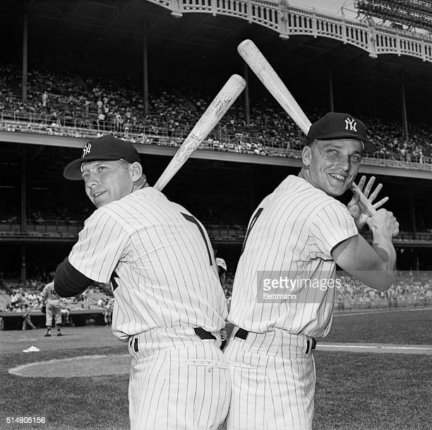 7/28/1961New York NY Mickey Mantle and Roger Maris have reason to be happy The two Yankee sluggers are leading both leagues in home runs Mantle with...
