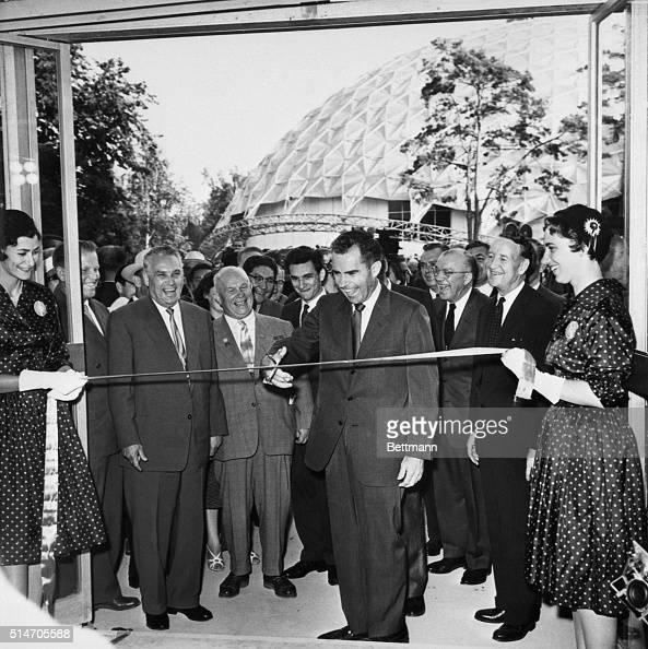 Who Was Richard Nixon Vice President: Vice-President Richard Nixon Cuts The Ribbon Opening The