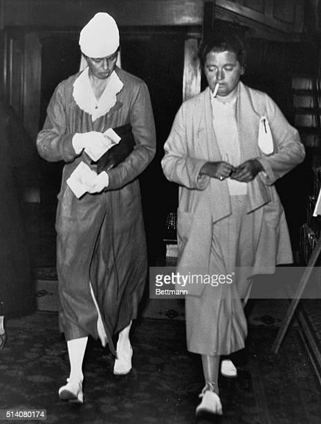 San Francisco, CA-ORIGINAL CAPTION READS: Mrs. Franklin D. Roosevelt is pictured leaving her San Francisco hotel, July 29th, en route to Portland...
