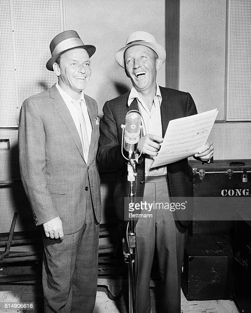 7/29/1963Hollywood CA Recording history is made as Frank Sinatra and Bing Crosby cut their first record together for Sinatra's Reprise Records Der...
