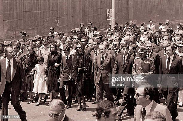 7/29/1980Cairo Egypt Following the horsedrawn caisson as it leaves the Abdin Palace during exShah of Iran's funeral procession 7/29 are left to right...