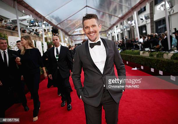 72nd ANNUAL GOLDEN GLOBE AWARDS Pictured Actor Ethan Hawke arrives to the 72nd Annual Golden Globe Awards held at the Beverly Hilton Hotel on January...