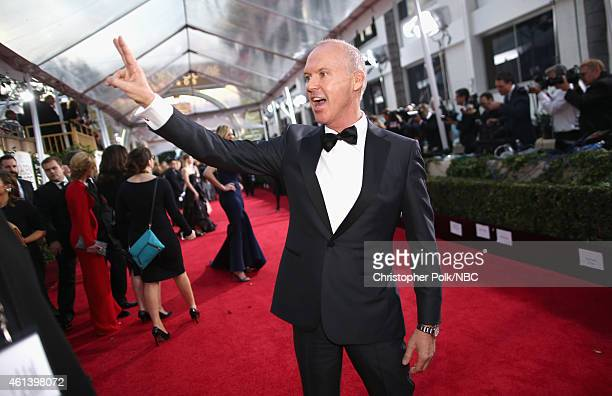 72nd ANNUAL GOLDEN GLOBE AWARDS -- Pictured: Actor Michael Keaton arrives to the 72nd Annual Golden Globe Awards held at the Beverly Hilton Hotel on...