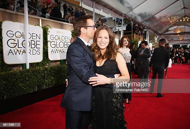 72nd ANNUAL GOLDEN GLOBE AWARDS Pictured Actor Robert Downey Jr and Susan Downey arrive to the 72nd Annual Golden Globe Awards held at the Beverly...