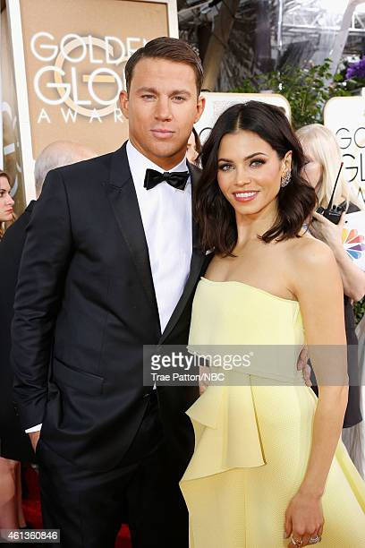 72nd ANNUAL GOLDEN GLOBE AWARDS Pictured Actors Channing Tatum and Jenna Dewan arrive to the 72nd Annual Golden Globe Awards held at the Beverly...